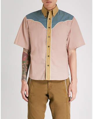 Prada Contrast-yoke regular-fit cotton shirt