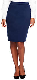 Joan Rivers Classics Collection Joan Rivers Ponte Knit Pull-on Slim Skirt