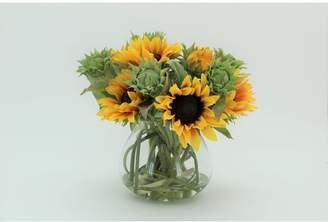 clear T&C Floral Company Sunflowers in 5 Glass Jar