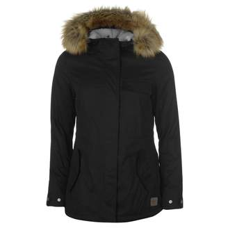 Soul Cal SoulCal Womens Short Parka Jacket Coat Top Hooded Zip Full Fur Trim Chest Pocket
