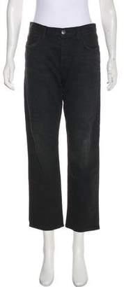 Current/Elliott Mid-Rise Straight Jeans