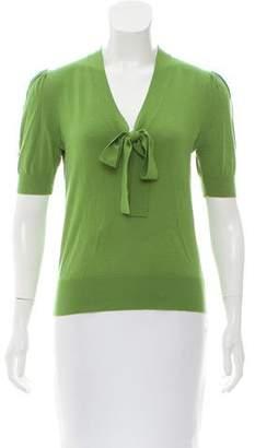 Michael Kors Wool Short Sleeve Top