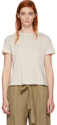 Raquel Allegra White Sueded Baby Jersey T-Shirt
