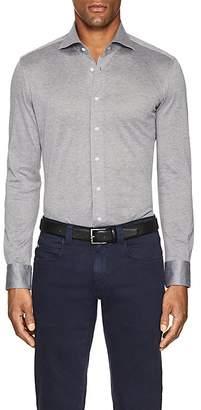 Cifonelli Men's Cotton Piqué Long-Sleeve Polo Shirt