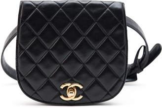 Chanel Bum Bag Waist Belt Quilted CC Black