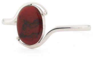 Made In Mexico Sterling Silver Red Jasper Bracelet