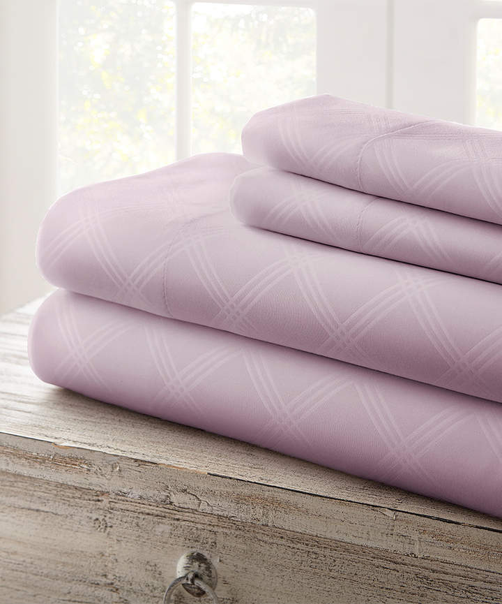 Lilac Cabana Plaid Embossed Sheet Set