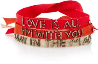 Roxanne Assoulin Set-Of-Three Tie One On Bracelets