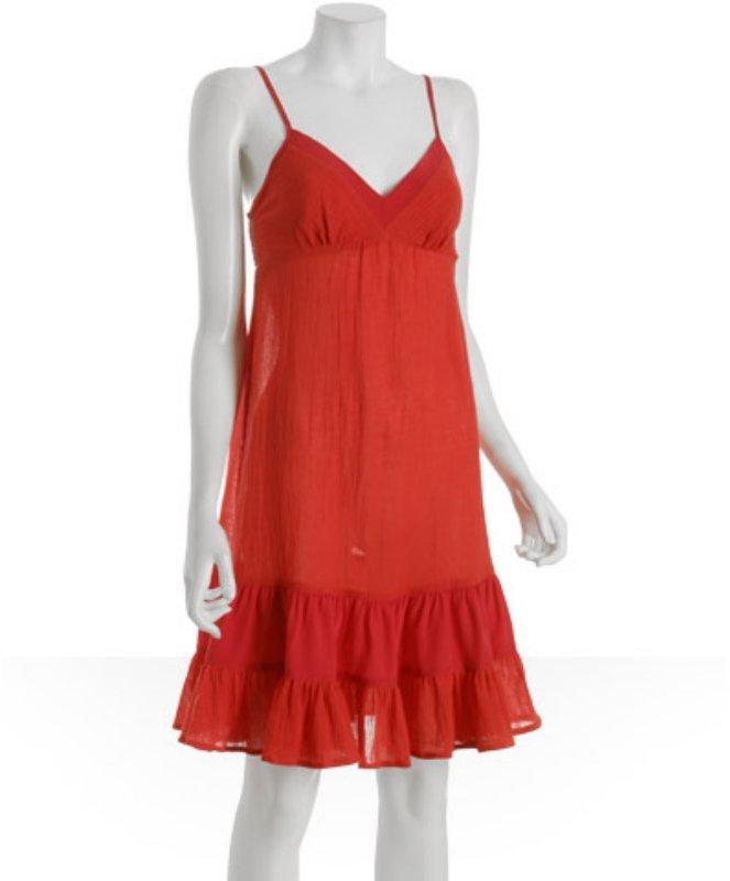 C & C California cherry cotton 'Mari' tank dress