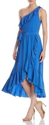Joie Damica One-Shoulder Silk Dress