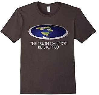 Flat Earth The Truth Cannot Be Stopped Disk Shirt