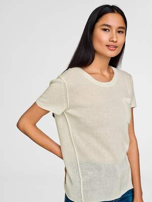 White + Warren Cashmere Pocket Tee