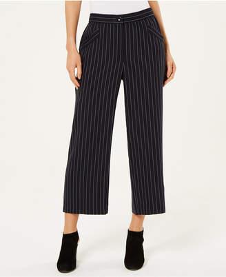 Eileen Fisher Tencel Striped Cropped Wide-Leg Pants, Regular & Petite