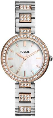 Fossil Karli Three-Hand Two-Tone Stainless Steel Watch Jewelry