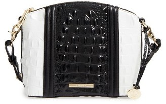 Brahmin Mini Duxbury - Crane Leather Crossbody Bag - Black $225 thestylecure.com