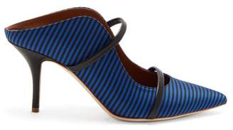 Malone Souliers X Emanuel Ungaro Maureen Striped Pumps - Womens - Blue Stripe