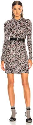 Etoile Isabel Marant Trani Dress in Pink & Black | FWRD