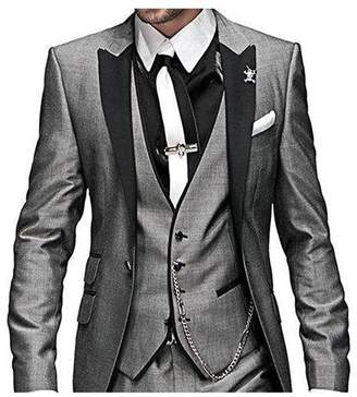 Botong One Button 3 Pieces Wedding Suits Notch Lapel Men Suits Groom Tuxedos