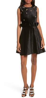 Ted Baker Queen Bee Ruffle Waist Dress