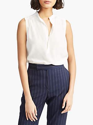 Ralph Lauren Polo Sleeveless Silk Shirt