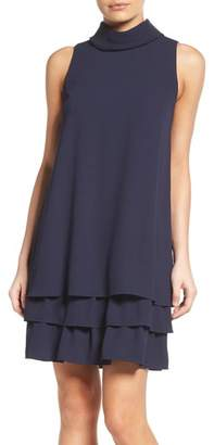 Vince Camuto Roll Neck Ruffle Dress