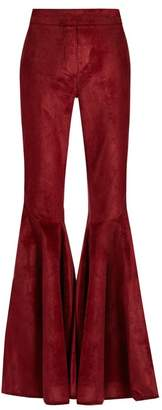 Ellery - Jacuzzi High Rise Ruffled Cuff Corduroy Trousers - Womens - Copper