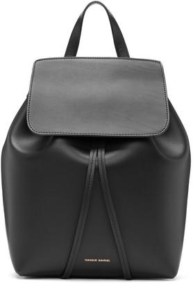 Mansur Gavriel Black Leather Mini Backpack $675 thestylecure.com