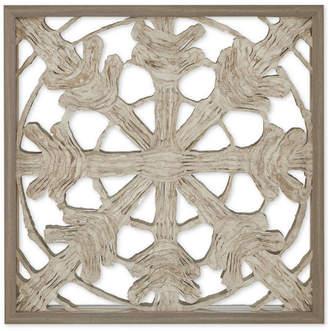 "Jla Home Harbor House Lattice Mirror 26"" x 26"" Rice Paper Framed Wall Art"