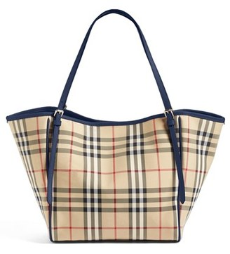 Burberry Small Canter Horseferry Check Tote - Beige $895 thestylecure.com