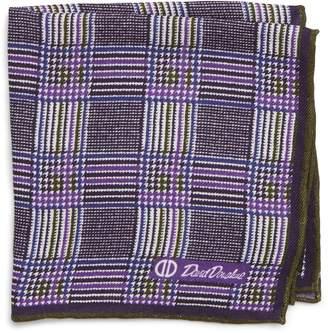 David Donahue Plaid Wool & Silk Pocket Square
