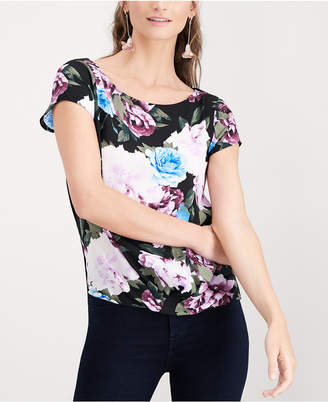 INC International Concepts I.N.C. Floral-Print Cap-Sleeve Top, Created for Macy's