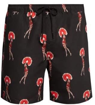 Saturdays NYC Timothy Flapper Swim Shorts - Mens - Black Multi