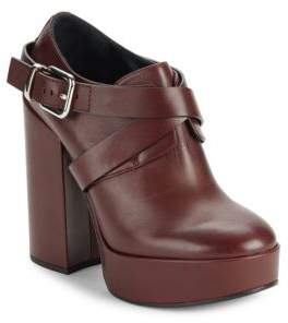 Round Toe Leather Ankle Boots