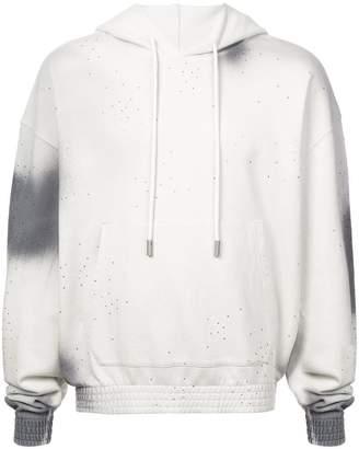 Off-White logo printed dyed hoodie