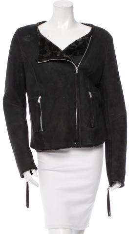 Rebecca TaylorRebecca Taylor Suede Shearling-Lined Jacket