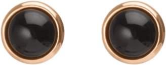 Aurate Black Stone Circle Earring