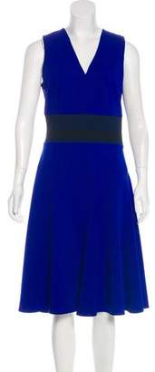 Derek Lam Rib Knit-Paneled Midi Dress