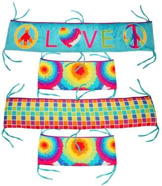 One Grace Place 10-34012 Terrific Tie Dye-Crib Bumper/Rail Cover