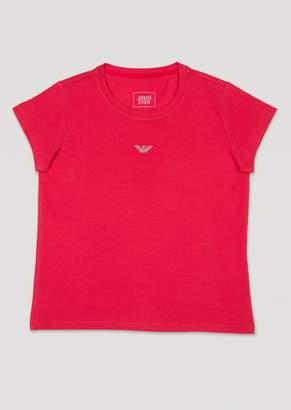 Armani Junior Stretch Cotton Jersey T-Shirt