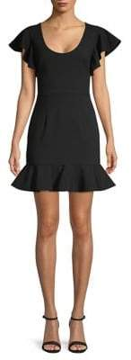 Black Halo Lynn Flounce Mini Dress