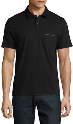 Black Brown 1826 Short-Sleeve Cotton Polo