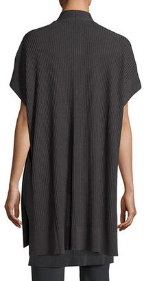 Eileen Fisher Long Sleek Tencel® Ribbed Kimono Cardigan, Petite $298 thestylecure.com