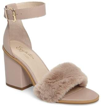 Seychelles Faux Fur Ankle Strap Sandal