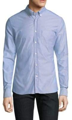 Tomas Maier Twisted Oxford Casual Button-Down Shirt