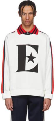 Gucci White Elton John Logo Sweatshirt
