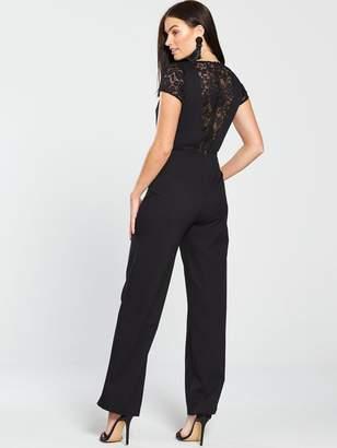 5ca0f418f9 Miss Selfridge 2 In 1 Lace Jumpsuit - Black