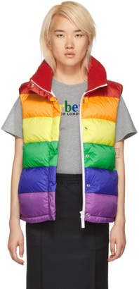 Burberry Multicolor Rainbow Puffer Down Vest