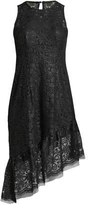 Nanette Lepore Mata Hari Asymmetric Sequined Dress