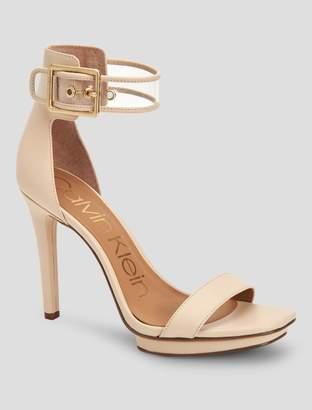 Calvin Klein vable vinyl leather sandal