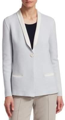 Fawn Cashmere Shawl Collar Blazer